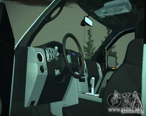 Ford F-150 EXT para visión interna GTA San Andreas