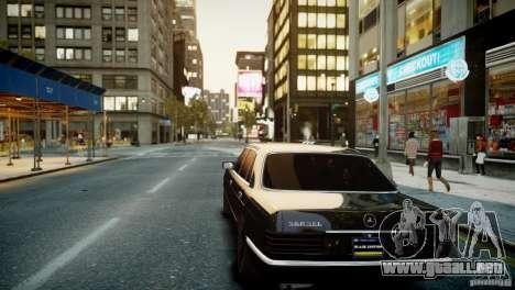 Mercedes-Benz 560 SEL Black Edition para GTA 4 vista hacia atrás