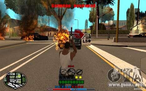 Cleo HUD by Cameron Rosewood V1.0 para GTA San Andreas sexta pantalla