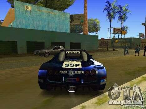 Bugatti Veyron Federal Police para la visión correcta GTA San Andreas