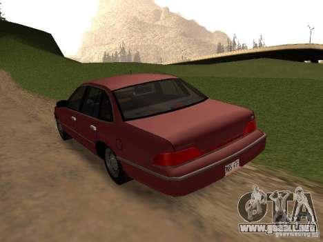 Ford Crown Victoria LX 1994 para GTA San Andreas vista posterior izquierda