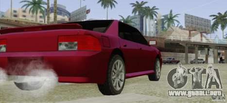 Sultan SRX para GTA San Andreas vista posterior izquierda