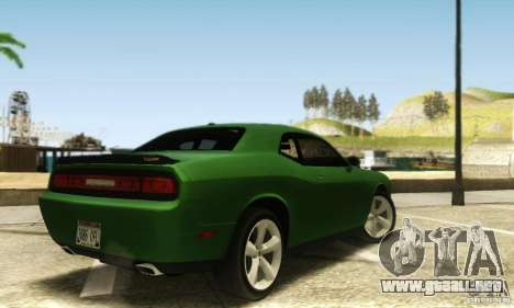 Dodge Challenger SRT-8 para GTA San Andreas vista posterior izquierda