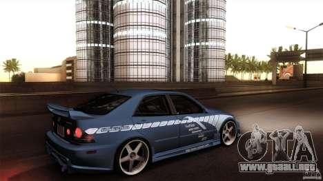 Lexus IS 300 Veilside para la visión correcta GTA San Andreas