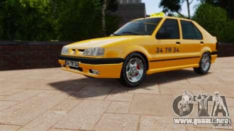 Taxi Renault 19 para GTA 4 visión correcta