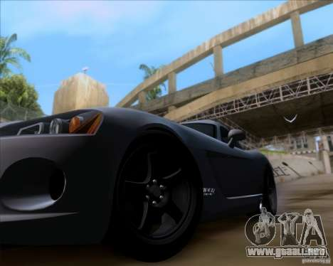 Dodge Viper SRT-10 Coupe para GTA San Andreas vista hacia atrás