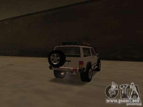 Jeep Cherokee Sport para GTA San Andreas vista posterior izquierda