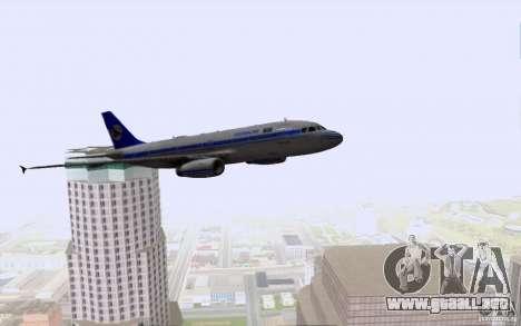 Airbus A-319 Azerbaijan Airlines para vista inferior GTA San Andreas