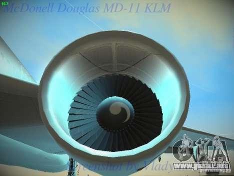 McDonnell Douglas MD-11 KLM Royal Dutch Airlines para la vista superior GTA San Andreas