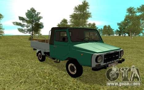 LuAZ 13021 para visión interna GTA San Andreas