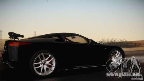Lexus LFA (US-Spec) 2011 para la visión correcta GTA San Andreas