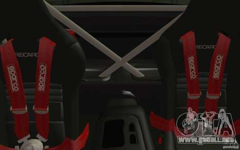 Mazda RX7 Hellalush V.2 para visión interna GTA San Andreas