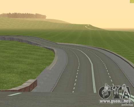 Terminada la construcción de la carretera a Rusi para GTA San Andreas sucesivamente de pantalla