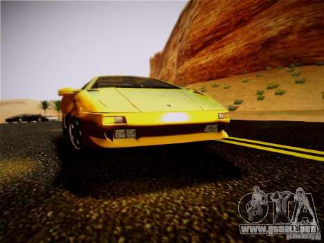 Lamborghini Diablo VT 1994 para GTA San Andreas vista hacia atrás