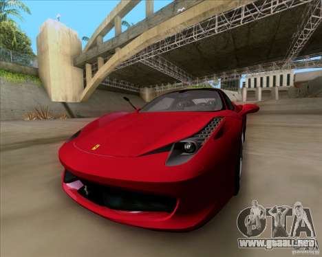 Ferrari 458 Italia V12 TT Black Revel para la visión correcta GTA San Andreas
