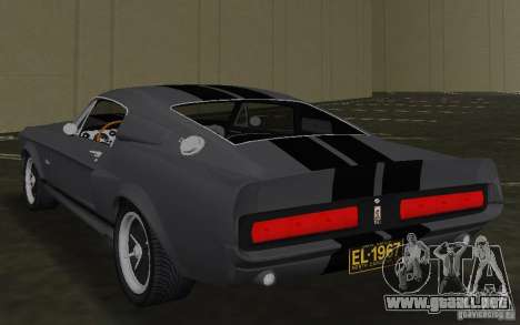 Shelby GT500 Eleanor para GTA Vice City vista lateral izquierdo