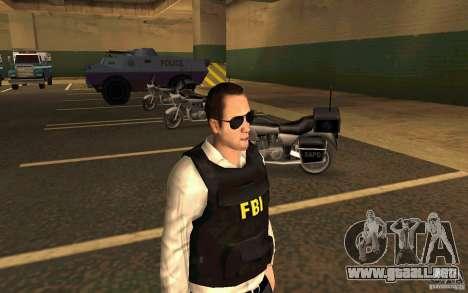 FBI HD para GTA San Andreas segunda pantalla