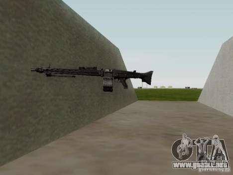 La ametralladora MG-42 para GTA San Andreas quinta pantalla