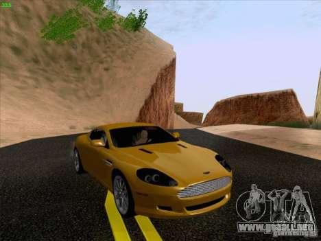 Aston Martin DB9 para GTA San Andreas vista hacia atrás