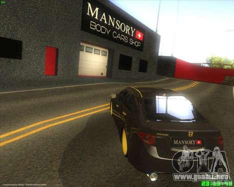 Honda Accord Mansory para GTA San Andreas vista posterior izquierda