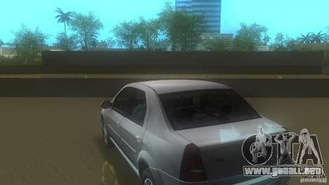 Dacia Logan para GTA Vice City vista lateral izquierdo