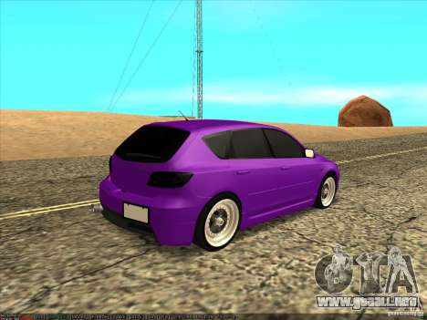 Mazda Speed 3 Stance para GTA San Andreas vista posterior izquierda
