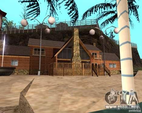 Villa en la Laguna de pesca para GTA San Andreas sexta pantalla