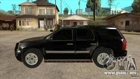 GMC Yukon Unmarked FBI para GTA San Andreas left