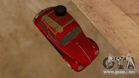 VW Beetle 1966 para visión interna GTA San Andreas