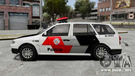 Volkswagen Parati G4 PMESP ELS para GTA 4 left