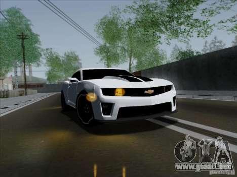 Chevrolet Camaro ZL1 2012 para la visión correcta GTA San Andreas