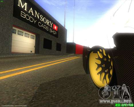 Honda Accord Mansory para GTA San Andreas vista hacia atrás