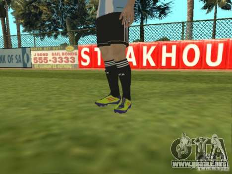 Lionel Messi para GTA San Andreas quinta pantalla