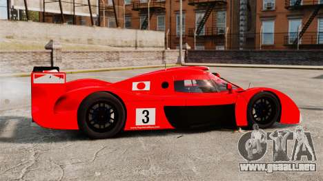 Toyota GT-One TS020 para GTA 4 left