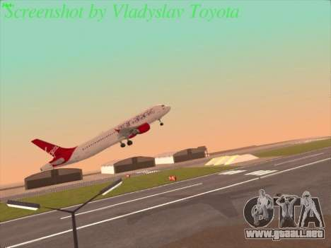 Airbus A320-211 Virgin Atlantic para la visión correcta GTA San Andreas