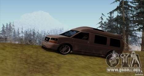 GMC Savana AWD para GTA San Andreas left