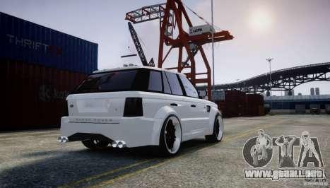 Range Rover Sport RR SCHEARZ para GTA 4 Vista posterior izquierda