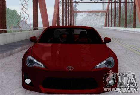 Toyota GT86 para la vista superior GTA San Andreas