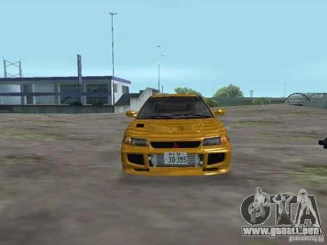 Mitsubishi Lancer Evolution III para GTA San Andreas vista hacia atrás