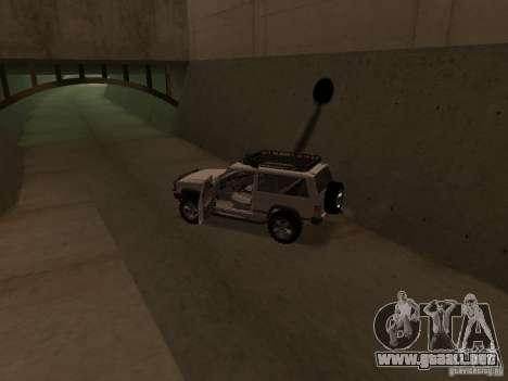 Jeep Cherokee Sport para visión interna GTA San Andreas