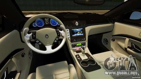 Maserati GT MC Stradale para GTA 4 vista hacia atrás