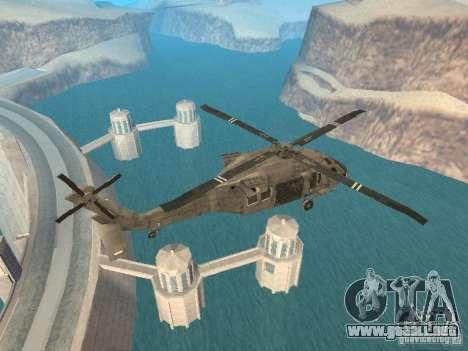 El UH-60 de COD MW3 para GTA San Andreas vista posterior izquierda
