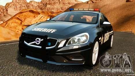 Volvo S60 Sheriff para GTA 4
