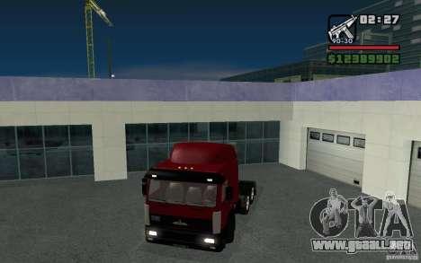 MAZ-643068 para GTA San Andreas vista posterior izquierda