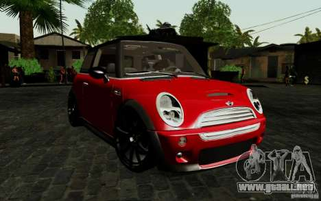 Mini Cooper S Tuned para GTA San Andreas left