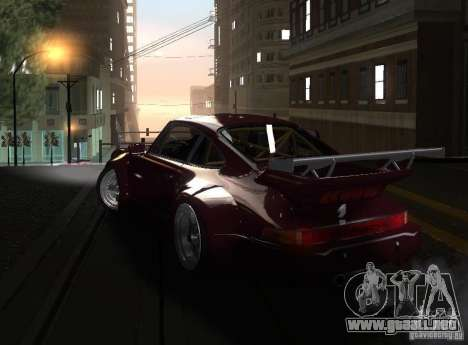 Porsche 911 Turbo RWB para GTA San Andreas left