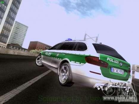 BMW M5 Touring Polizei para GTA San Andreas vista posterior izquierda