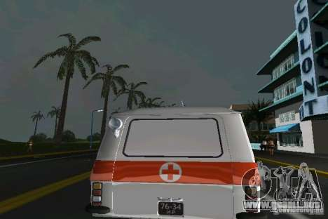 RAF-22031 ambulancia para GTA Vice City visión correcta