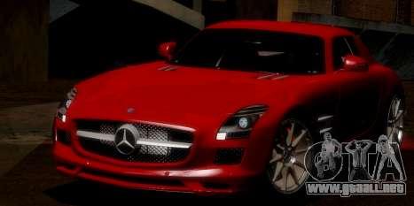 Mercedes-Benz SLS AMG 2010 para vista inferior GTA San Andreas