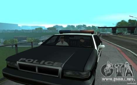 Policía en el puente, San Fierro para GTA San Andreas sucesivamente de pantalla